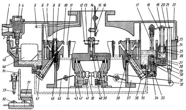 на схеме карбюратора К-90